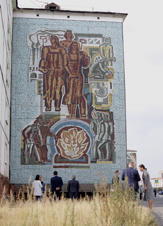 Мозаики на Комсомольской улице восстановлены