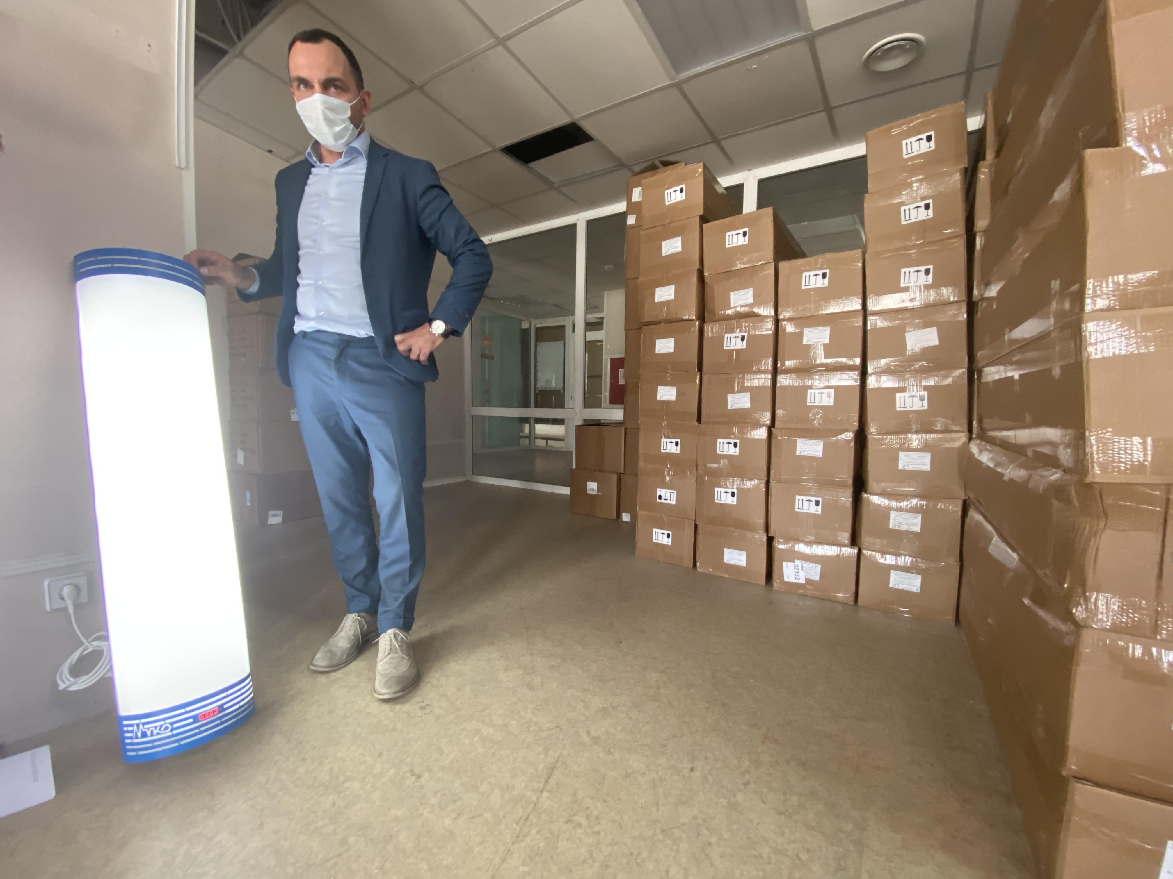 Фитнес-центры получат бактерицидные лампы